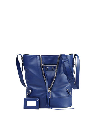 Papier Zip Bucket Bag, Blue