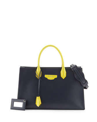 AJ XS Bicolor Tote Bag, Blue/Yellow