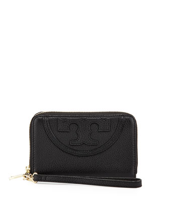 All-T Zip Phone Wristlet Wallet, Black