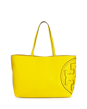 All-T East-West Tote Bag, Reptile Yellow