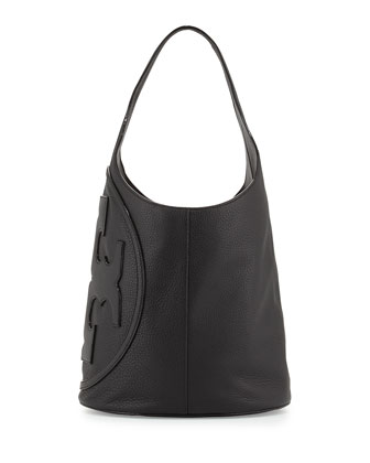 All-T Leather Hobo Bag, Black
