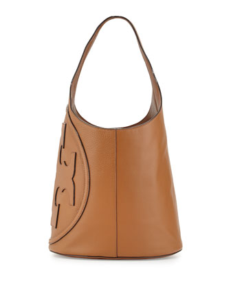 All-T Leather Hobo Bag, Bark