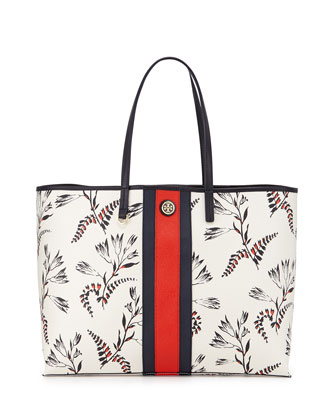 Kerrington Floral-Print Tote Bag, White