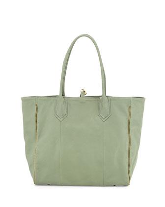 Reese Calfskin Tote Bag, Mint