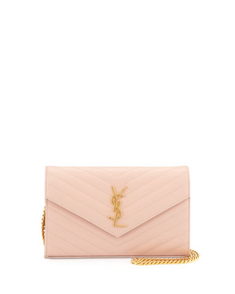 Monogramme Matelasse Shoulder Bag, Pale Blush