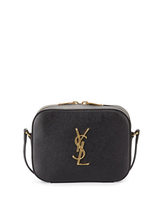 Monogram Camera Crossbody Bag, Black