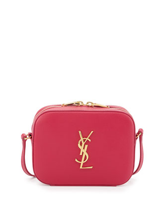 Monogramme Camera Crossbody Bag, Fuchsia