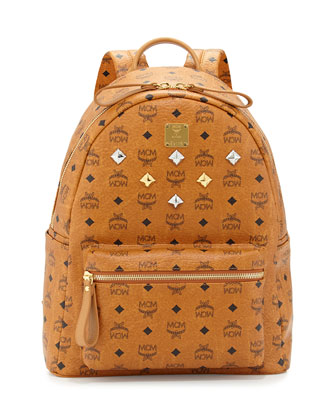 Stark Medium Logo Backpack, Cognac