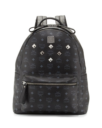Stark Medium Logo Backpack, Black