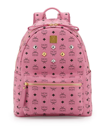 Stark Medium Logo Backpack, Pink