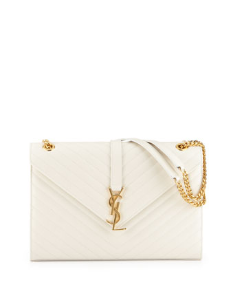 Monogramme Matellase Shoulder Bag, White