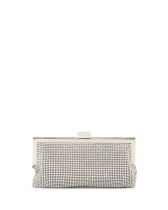 Saffron Crystal Clutch Bag, Silver
