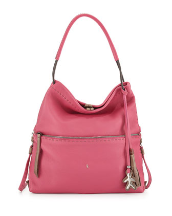 Andrea Fold-Over Crossbody Bag, Pink