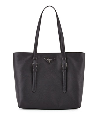 Saffiano Soft Tote Bag, Black (Nero)