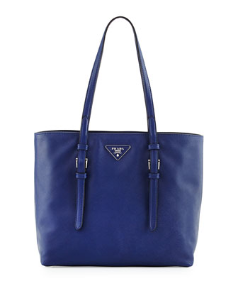 Saffiano Soft Tote Bag, Dark Blue (Inchiostro)