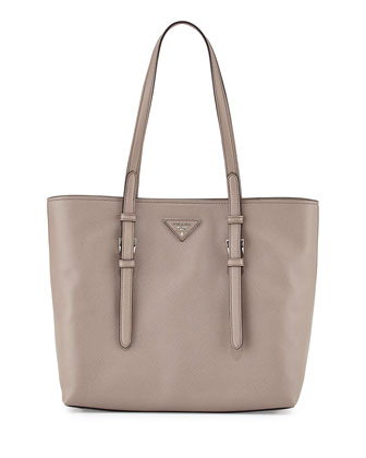 Saffiano Soft Tote Bag, Gray (Argilla)
