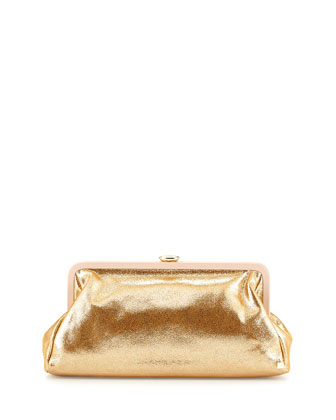 Beekman Metallic Clutch Bag, Gold