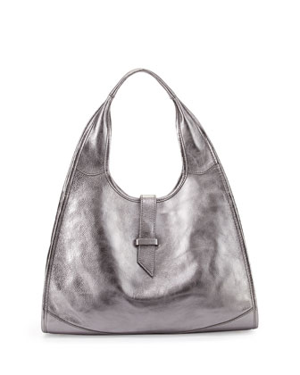 New Yorker Hobo Bag, Gunmetal