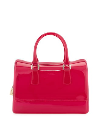 Candy Medium Satchel Bag, Bright Pink