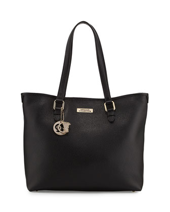 Leather Two-Strap Shopping Tote Bag