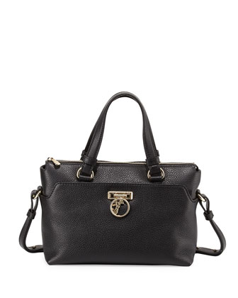 Two-Handle Crossbody Bag, Black