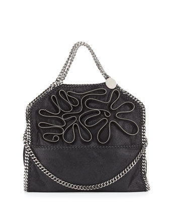 Falabella Fold-Over Zipper Small Tote Bag, Black