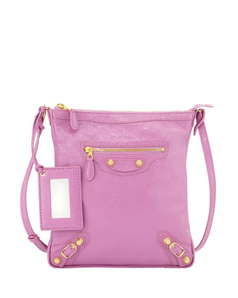 Giant 12 Golden Flat Crossbody Bag, Rose