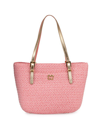 Jav Squishee Tote Bag, Coral Mix