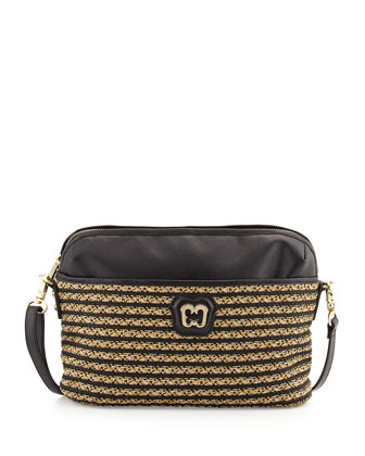 Saxon Crossbody Bag, Sulfate Black
