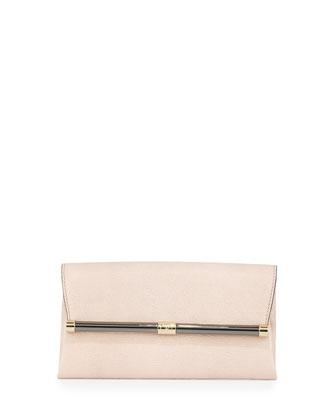 440 Shimmer Envelope Clutch Bag, Pink Dust