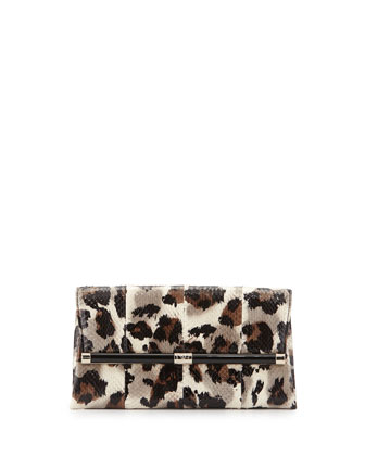 440 Snake Envelope Clutch Bag, Vintage Leopard