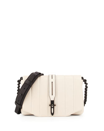 Enfield Mini Leather Shoulder Bag, Quilted Bone