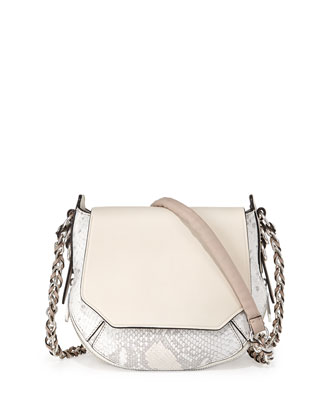 Bradbury Mini Python-Embossed & Leather Hobo Bag