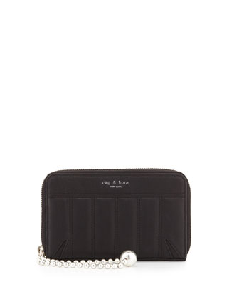 Devon Mobile Phone Zip Wallet, Quilted Black