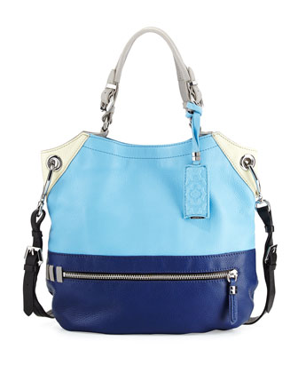 Sydney Colorblock Tote Bag, Sky/Multi