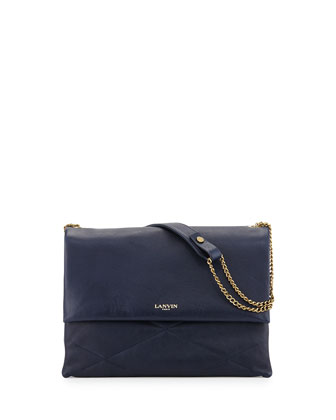 Sugar Medium Quilted Shoulder Bag, Navy