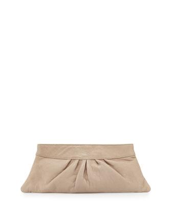 Louise Lambskin Clutch Bag, Cashmere