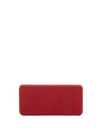 Grace Leather Clutch Bag, Crimson