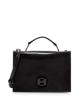 Square Flap Shoulder Bag, Shadow
