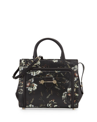 Daphne Printed Leather Crossbody Bag, Multicolor