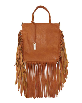 Luxe Fringe Shopper Tote Bag