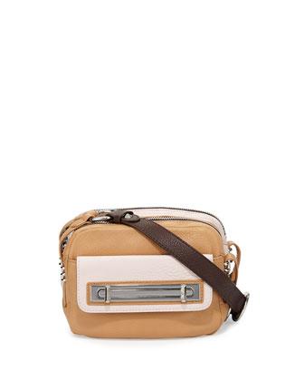 Mandy Colorblock Crossbody Bag, Sand Multi