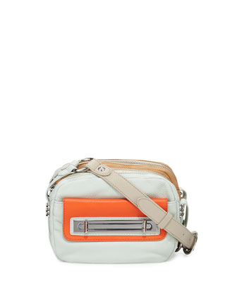 Mandy Colorblock Crossbody Bag, Seafoam Multi
