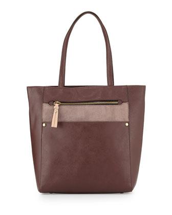 Daphne Colorblock Tote Bag, Espresso