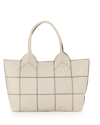 Summer Studded-Detail Tote Bag, Stone