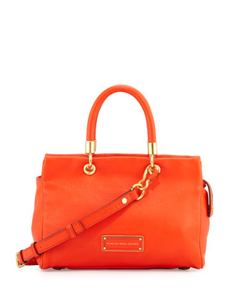 Too Hot To Handle Satchel Bag, Bright Tangelo