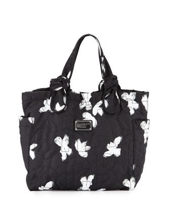 Pretty Nylon Tate Medium Tote Bag, Black/Multi