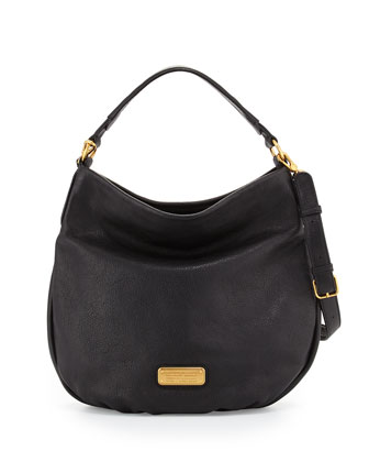 New Q Hillier Hobo Bag, Black