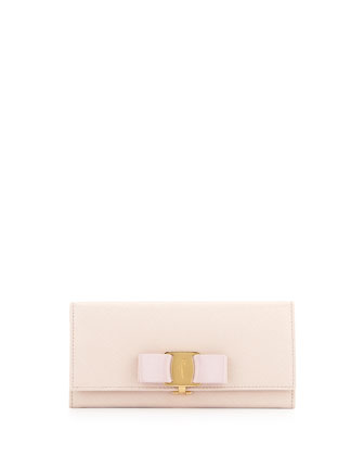 Miss Vara Continental Wallet, Macaron (Light Pink)