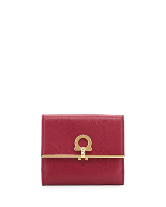 Icona Flap Wallet, Vin (Burgundy)